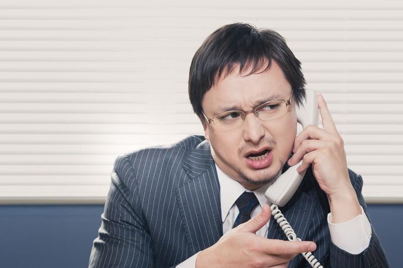 しつこい電話