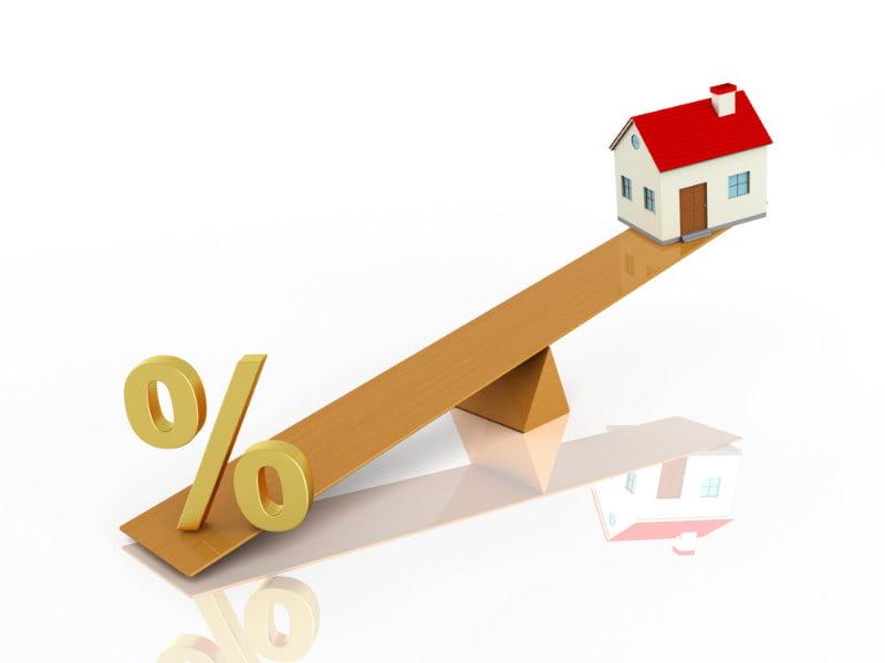 家と住宅ローン金利