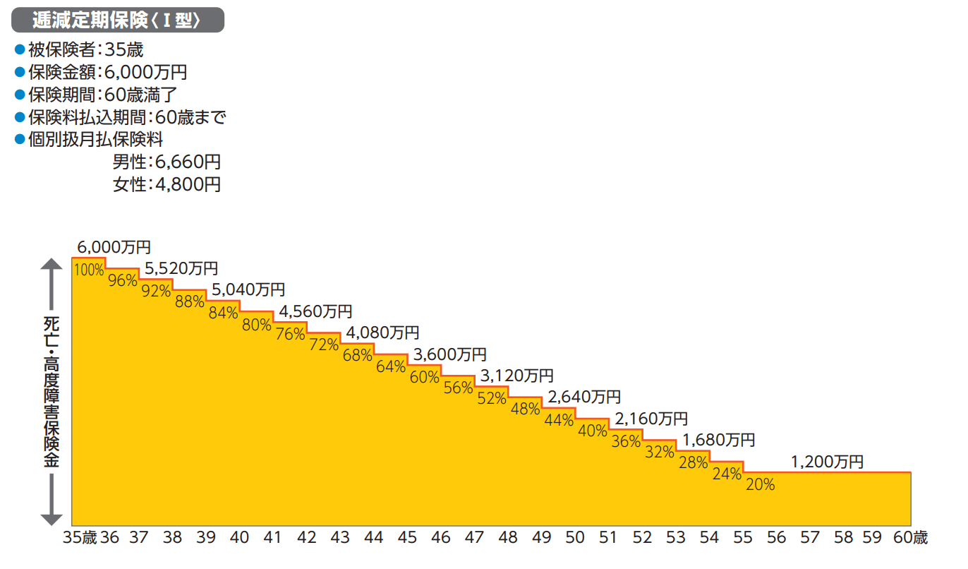 ソニー生命の逓減定期保険