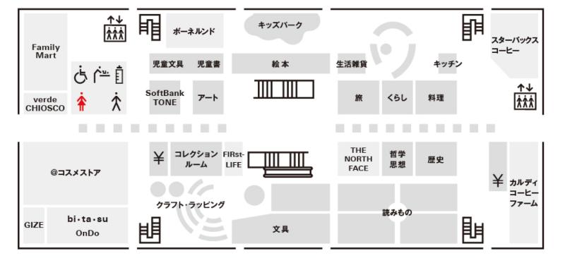 函館蔦屋書店の2F