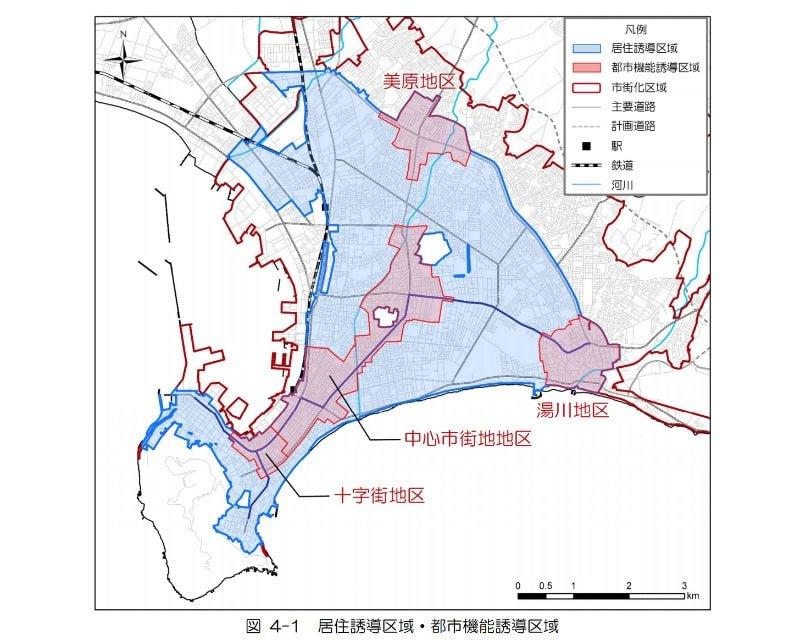 函館市の立地適正化計画図