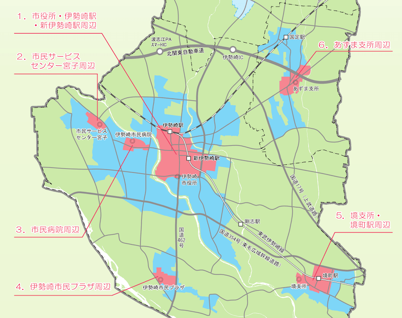 伊勢崎市の立地適正化計画
