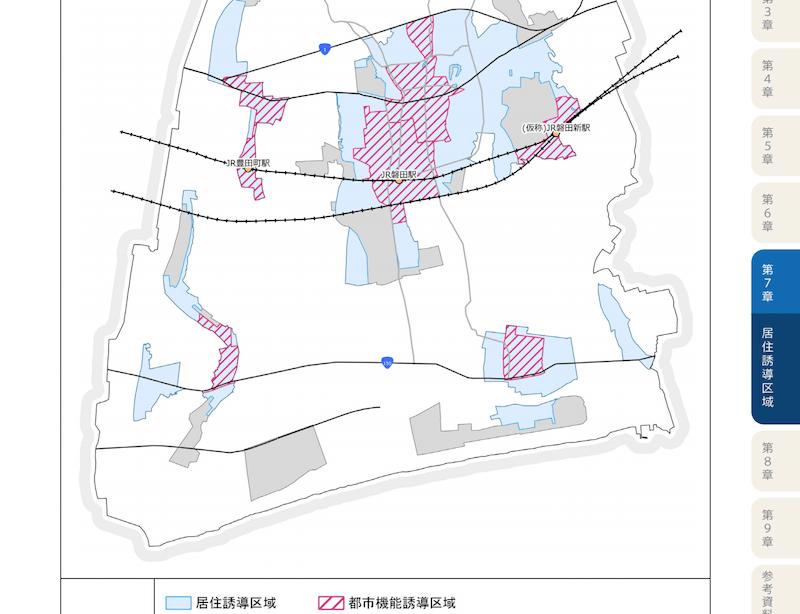 磐田市の立地適正化計画図