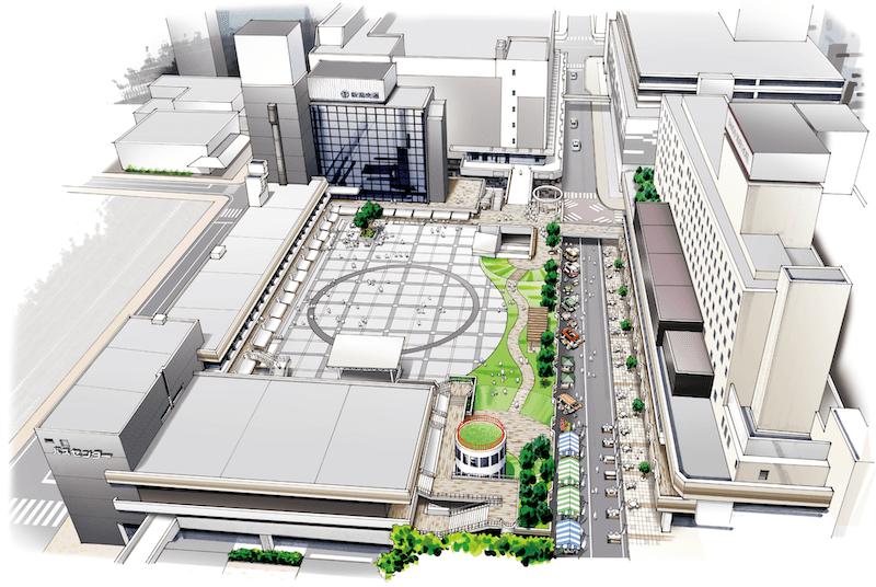 万代シティのリニューアル図