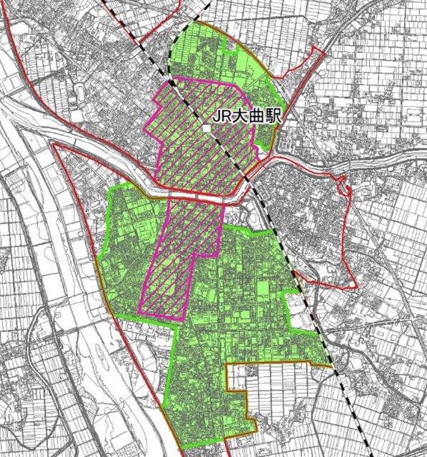 大仙市の立地適正化計画図
