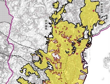 鹿児島市の立地適正化計画図