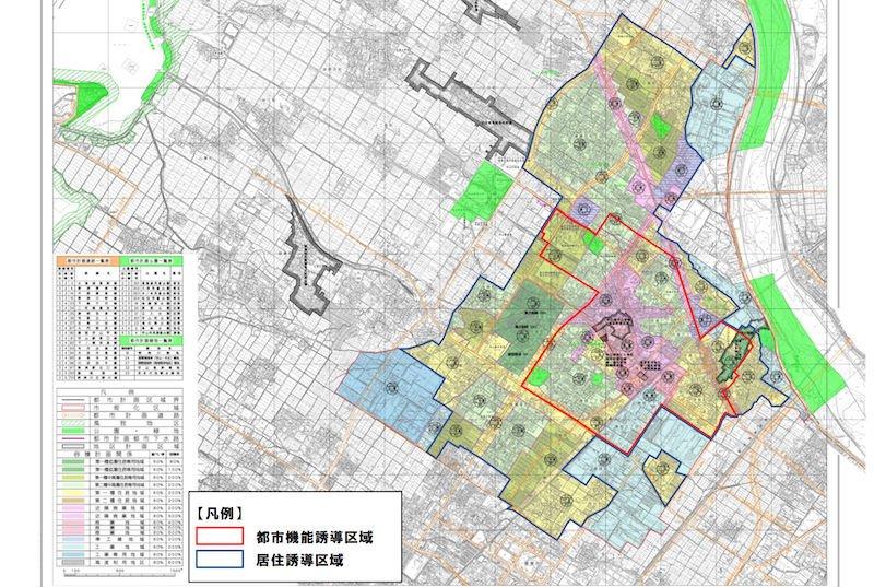 守山市の立地適正化計画図