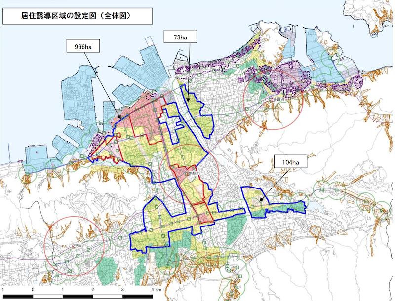 新居浜市の立地適正化計画図