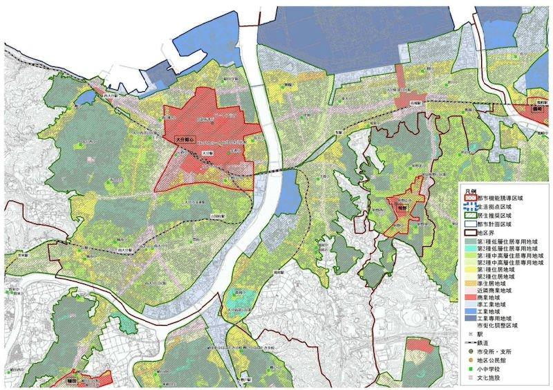 大分市の立地適正化計画案