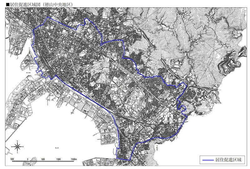 周南市の立地適正化計画図