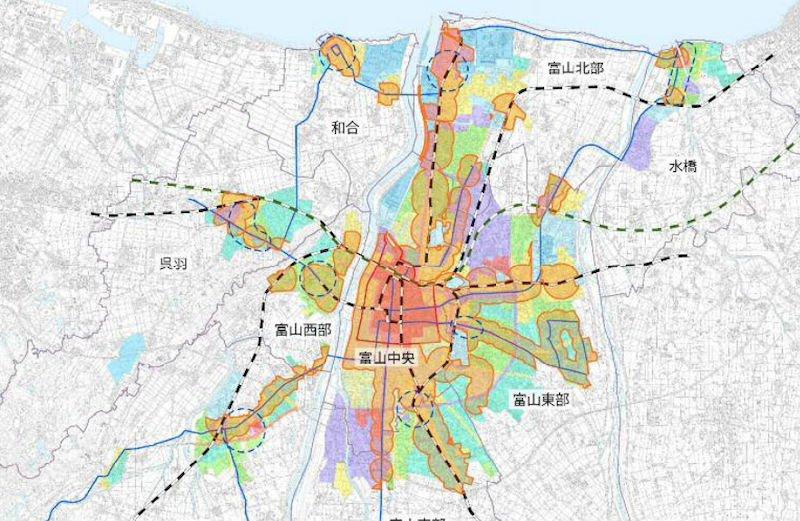 富山市の立地適正化計画図