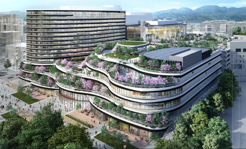 熊本市の桜町地区第一種市街地再開発事業