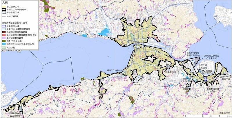 松江市の立地適正化計画図