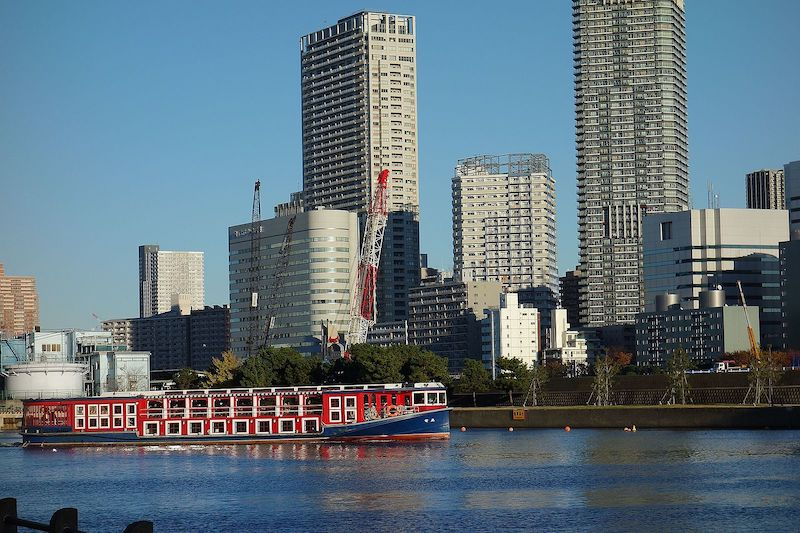 東京都中央区のマンション群