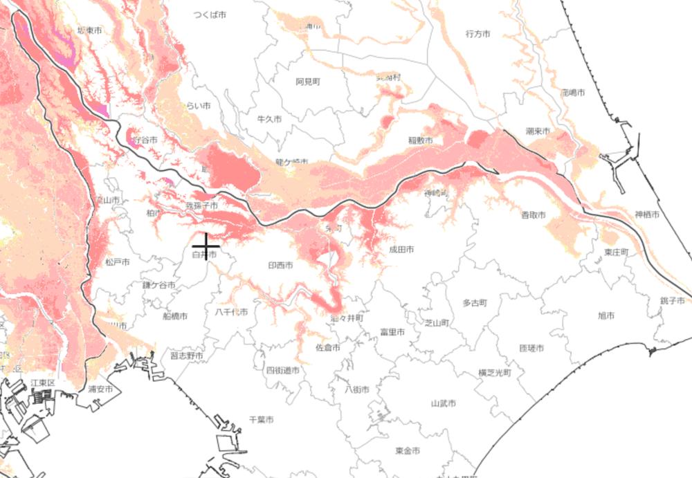 千葉県のハザードマップ