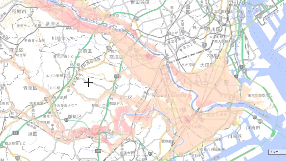 川崎市のハザードマップ