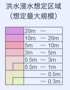 洪水ハザードマップの凡例