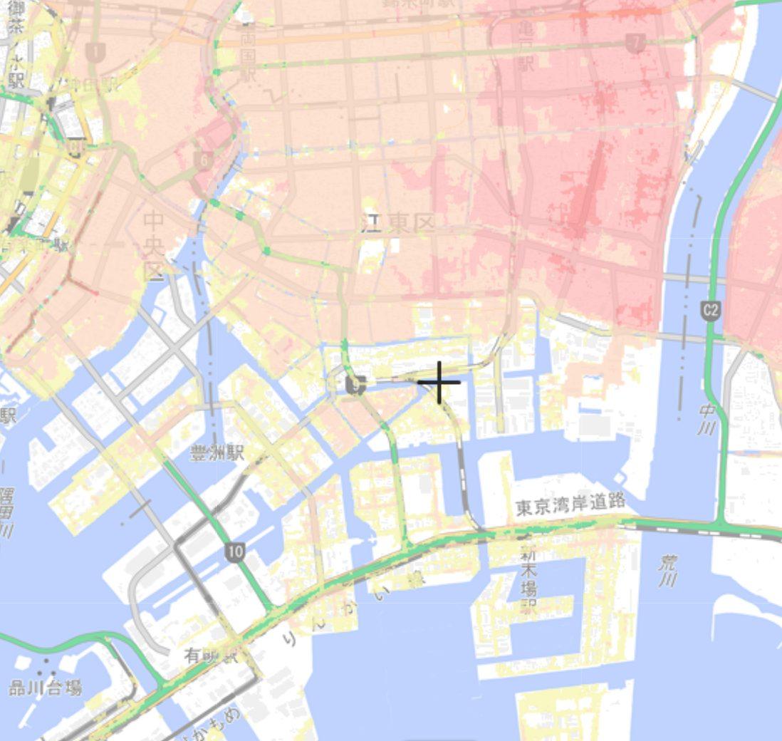 江東区の洪水ハザードマップ