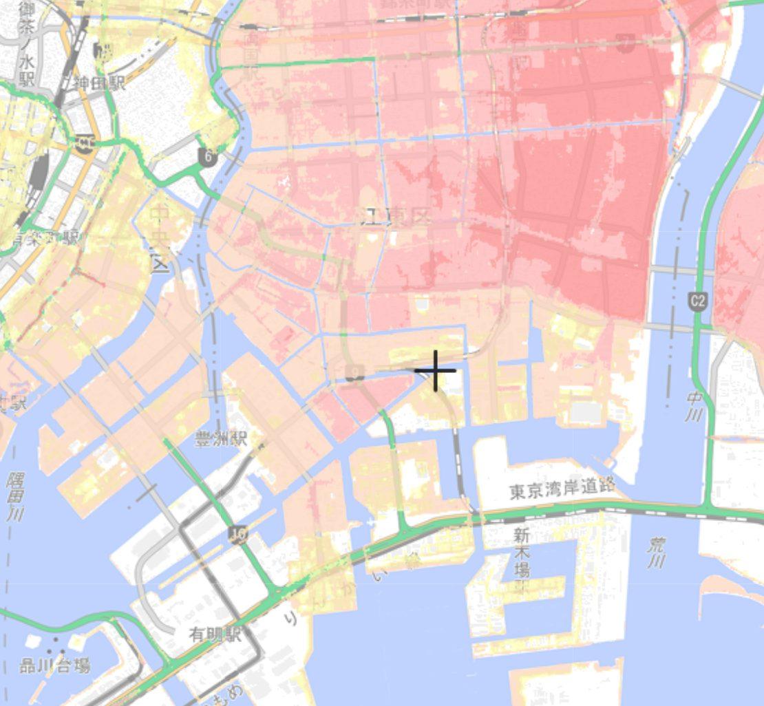 江東区の高潮ハザードマップ
