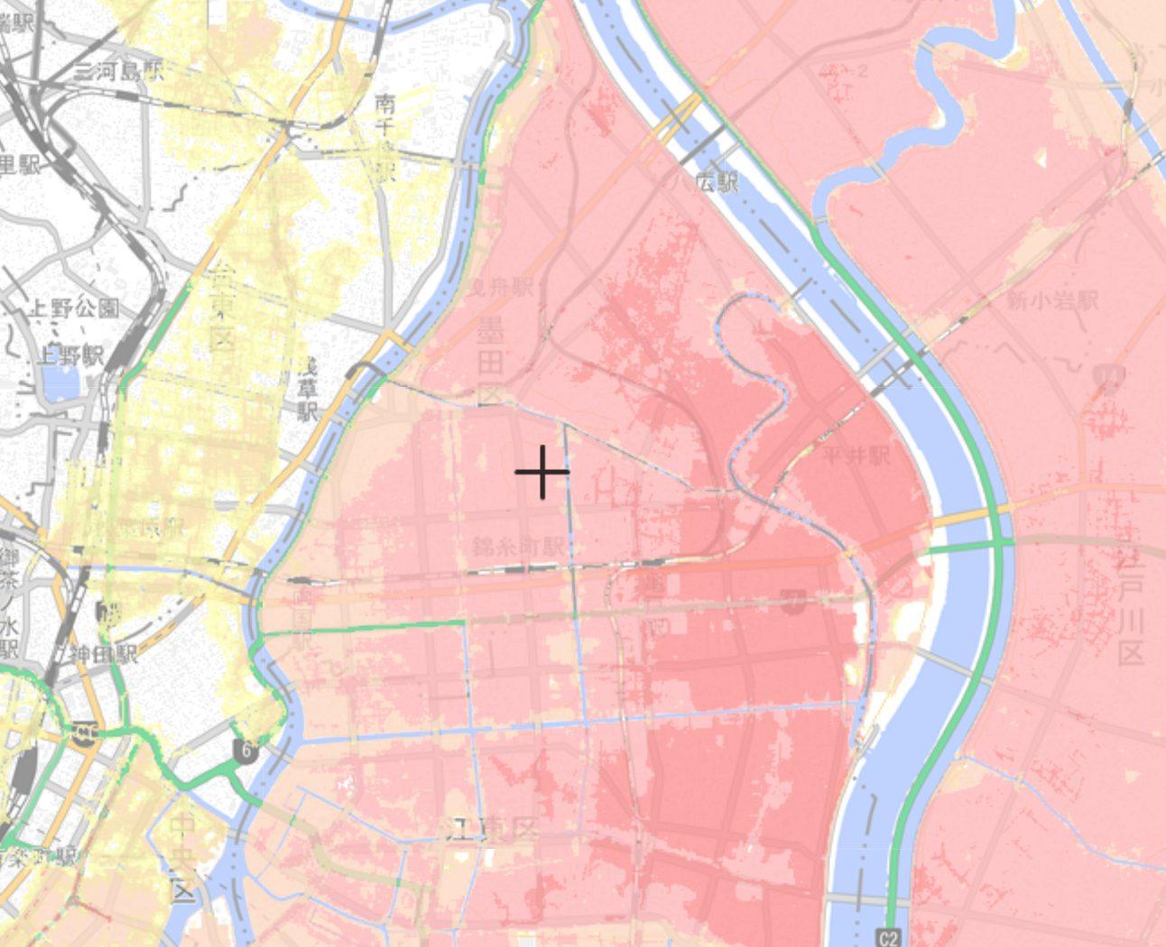 墨田区の高潮ハザードマップ